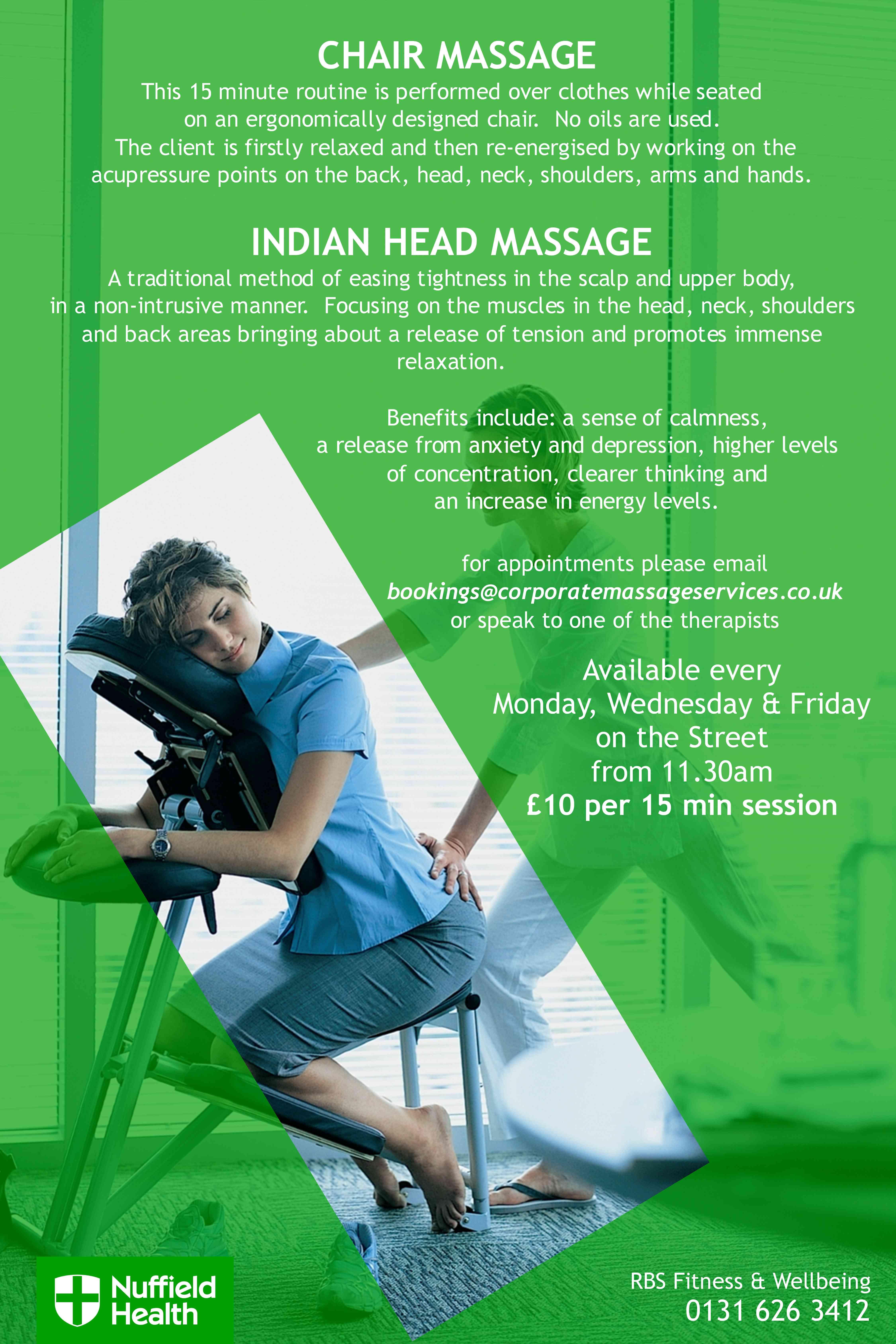 Chair massage benefits - Onsite Chair Massage